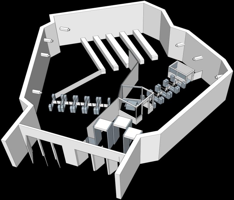 Рис 1. Типичная конфигурация вестибюля