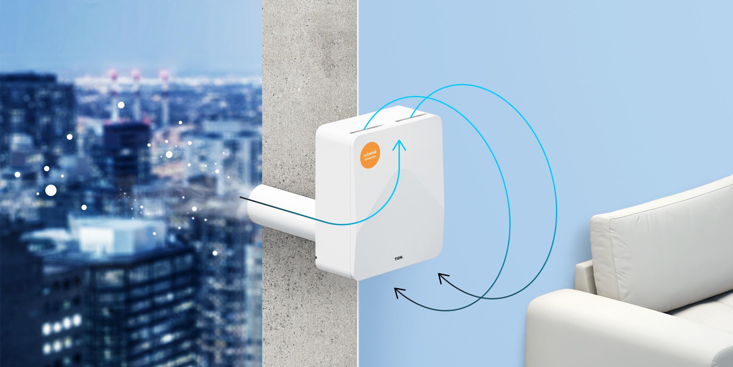 Rubetek и Tion выпустили бризер, который очищает воздух и управляет кондиционером, освещением, видеонаблюдением и другими элементами умного дома