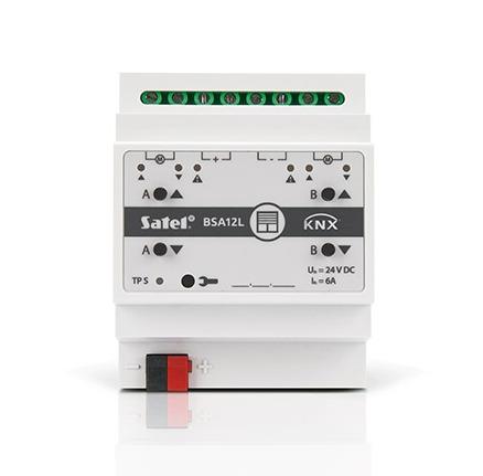 Satel выпустила универсальный контроллер KNX-BSA12L для управления занавесями