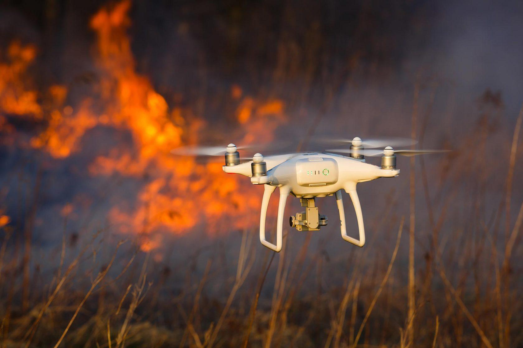 МЧС использует дроны для поиска нарушителей противопожарного режима