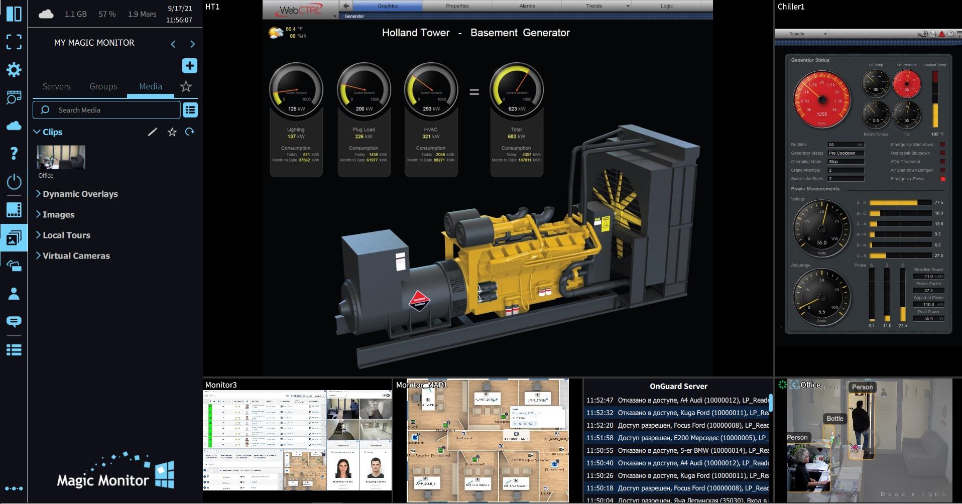 Magic Monitor для системы OnGuard