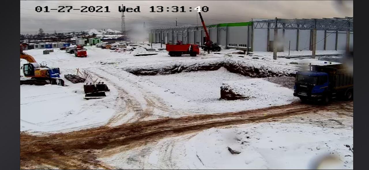 Интеллектуальная система видеонаблюдения установлена на стройплощадкеГФК