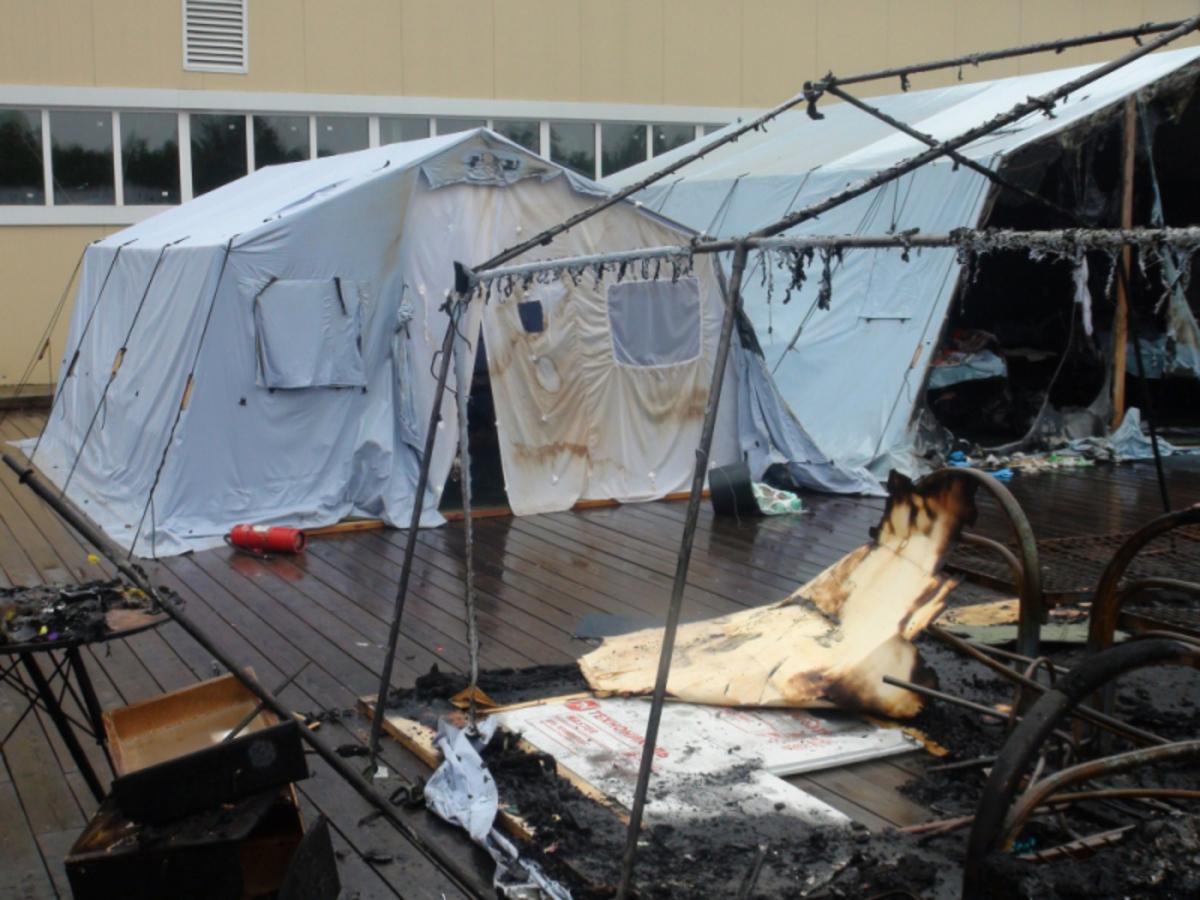 Нормативные требования безопасности к палаточным лагерям разрабатывает МЧС России