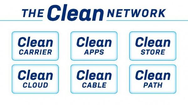 США откажется от ряда китайских ИТ-услуг и продуктов в рамках программыClean Network