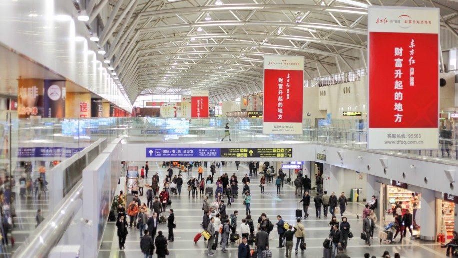 Китайские аэропорты тестируют систему распознавания лиц и выражений