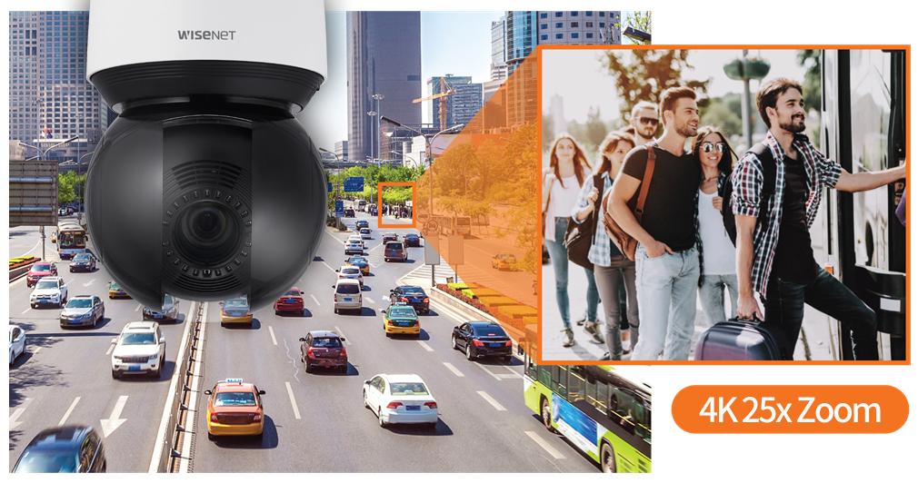 Новые поворотные IP-камеры линейки Wisenet X PTZ PLUS с функцией автотрекинга на базе ИИ